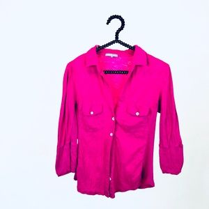 James purse pink button up shirt size 2